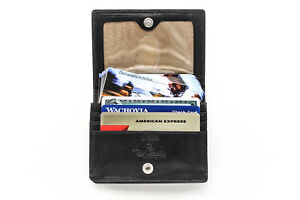 Tony Perotti Business and Credit Card Case Wallet with ID Window in Black