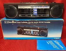"""EMERSON CTR-930 DUAL CASSETTE,AM/FM STEREO BOOMBOX  """" BRAND NEW """""""