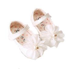 Nuevo Bebé Niña Blanco Bautizo Zapatos De Fiesta 6-9 Meses