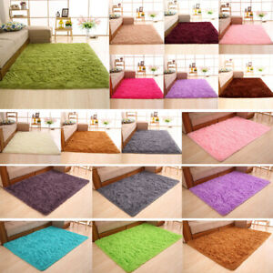 Fluffy Area Rugs Soft Anti-Skid Dining Room Home Bedroom Carpet Floor Play Mat