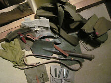 More details for ww2 soviet militaria webbing and pouches bundle including entrenching tool