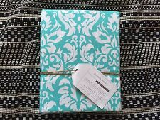 POTTERY BARN Teen damask twin duvet cover only pool aqua