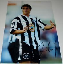 David Ginola Newcastle Utd personalmente firmado 12X8 Foto Autógrafo