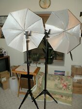 Light Stand Set-  Impact LS-8A  8' Stands, Impact UBW32 Umbrellas, Impact Brkts