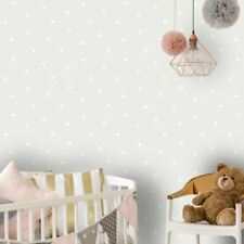 Dotty Wallpaper Rolls Grey / White - Holden Decor 12600 Polka Dot
