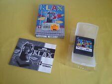KLAX Raro Videogioco SEGA GAME GEAR Completo Videogame CIB - MAI USATO Untested