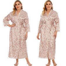 Женские цветочный ночная сорочка макси платье кимоно свободная с длинным рукавом пижамы пижамы