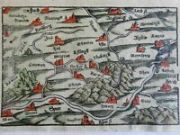 Swabia Holy Roman Empire Worms Ansbach Speyer 1628 Munster miniature map