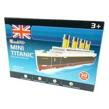 Cubicfun - 3d puzzle-mini titanic - 3d puzzel-barco-juguete - 30 piezas