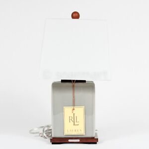 Ralph Lauren RLL Ceramic Gray Table Lamp  With Shade New