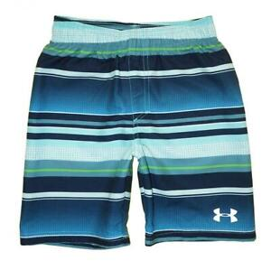 Under Armour Boys Blue & Green Striped Board Short Size 5