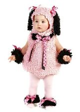 Pinkie Poodle Costume Pink Chenille Princess Puppy  Dog Infant Baby Girl 6-12 mo