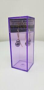 Original Harry Mason Earspiral Earrings Artisan Pearl Corkscrew Earrings