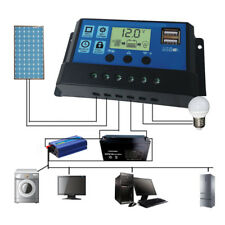 【USA】30A Solar Panel Controller Battery Charge Regulator 12V/24V Auto W/Dual USB