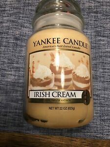 Yankee Candle IRISH CREAM Large Jar 22 oz Candle -  RARE HTF