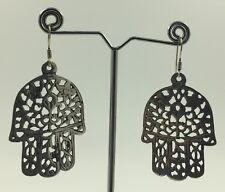 Moroccan Hamsa Earrings Sterling Silver Evil Eye Amulet Berber Hand Talisman New