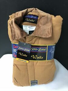 Walls Zero Zone Insulated Coveralls 10oz Duck insulated-size XLG regular -NWT