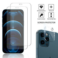 For iPhone 12/Pro Max/Mini 5G Tempered Glass Screen Protector Camera Lens Cover