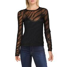 Rag & Bone Womens Valencia Zebra Print Sheer Burnout T-Shirt Top BHFO 4986
