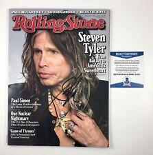 Steven Tyler Aerosmith Signed Autographed Rolling Stone Magazine 2011 Beckett
