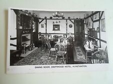Retro Collectable Vintage RPPC Dining Room Driftwood Hotel Hunstanton Norfolk
