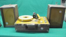Vintage Newcomb EDTS-50 Portable Record Player From Wheaton Illinois School