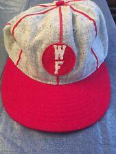 Men's WF Ebbets Field Flannels Vintage Ballcap Hat Fitted 7 3/4 Gray OOP Wool