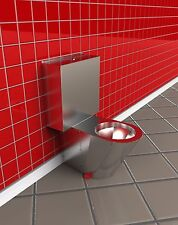 STAINLESS STEEL CLOSE COUPLED WC SUITE - P TRAP