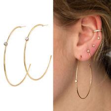 Mujeres Oro Envoltura de gancho del rhinestone de cristal perla cinco Puño Oreja Pendientes con Pasador Aro