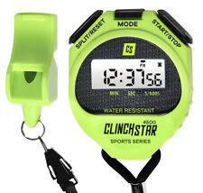 Stopwatch Digital Sports Timer and Whistle Set Waterproof; Swimming Marathon