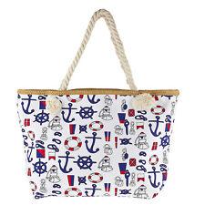 Sea Ocean Print Tote Bag Lux Accessories Women's Nautical Anchor