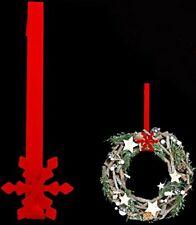 Metal Christmas Red Snowflake Wreath Door Hanger Festive Hook Decoration 30cm