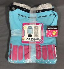 Joe Boxer Women's Medium 3-Pc Long Sleeve Pajama Set Sleepwear Sleep Gift Set