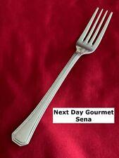 """New listing Next Day Gourmet Sena Multi Edge Tip Stainless Steel Flatware Dinner Fork 8"""""""