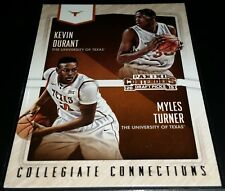 Kevin Durant/Myles Turner 2015-16 Panini Contenders COLLEGIATE CONNECTIONS Card
