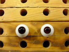 a pair vintage doll glass eyes size 16 mm for bisque heads doll doctor Art. 1533