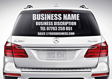 Custom Car Rear Window Business Advertising Vinyl Sticker Lettering Decal DIY