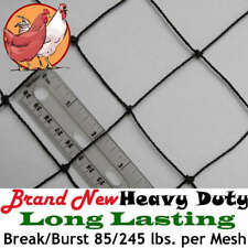 "Poultry Netting 50' x 50' 2"" Heavy Knotted Aviary Bird Net 8-10 Year Lifespan!"