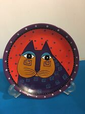 "Rare Laurel Burch Decorative Cat Design 8"" Ceramic Plate Bella Casa by GANZ"