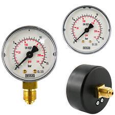 Manometer Senkrecht Waagerecht Druckluft Vakuum - Ø 40, 50, 63, 80, 100, 160 mm