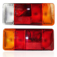 2x Rückleuchten Lichtscheiben E-Prüfezeichen für Nutzfahrzeuge, Anhänger