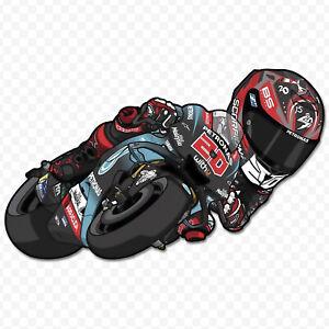 Sticker Fabio Quartararo MotoGP Cartoon