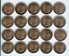 (20) 2011 ONE AVDP OZ EACH .999 Fine Morgan Dollar Design Copper Bullion Rounds