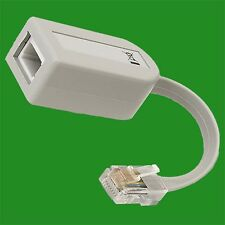 Secondary RJ45 Line Adaptor to UK Telephone Socket Cable