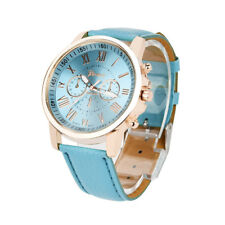Genf Frauen Mode Römischen Ziffern Kunstleder Band Uhr Analoge Quarz Armbanduhr