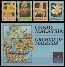 Malaysia 1994 - Mi-Nr. 513-516 & Block 10 ** - MNH - Orchideen / Orchids