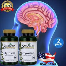 L-Tyrosine 500 mg Energy-Chronic Fatigue-Focus-Depression Mental Brain 200 Caps
