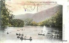 1907 Lake County Boating Party Laurel Dell California Teich postcard 6176