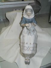 Lladro 4865 Lady Sewing in a Chair With Scarf and Shawl