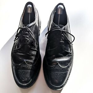 Vintage 1960s Biltrite Vibram Work Dress Shoes Wingtip Black sz 11.5